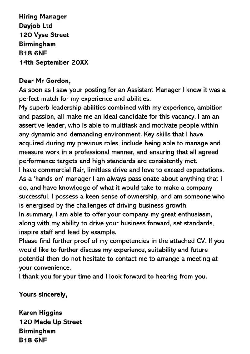 IT Manager Cover Letter Sample Letters & Examples