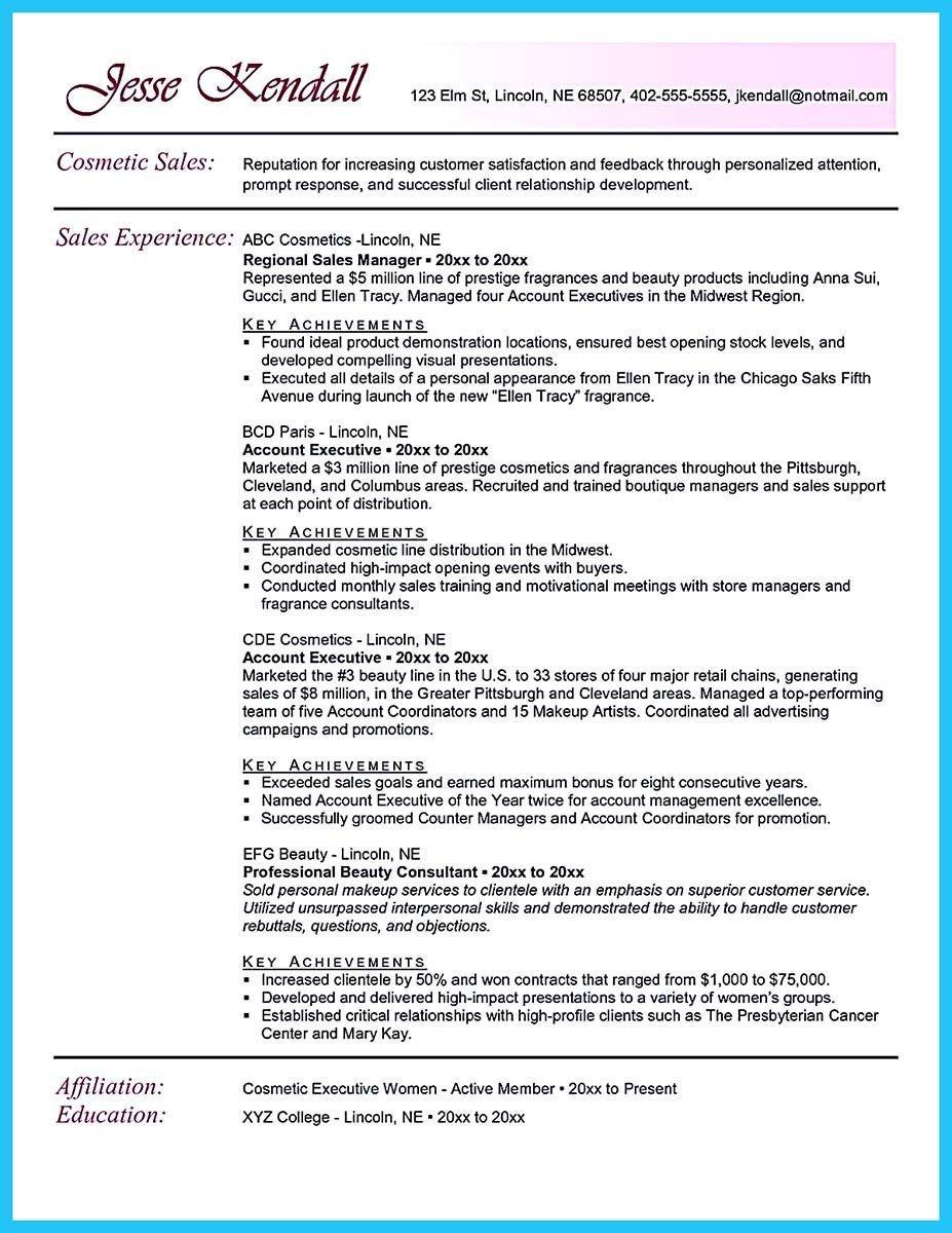 Counter Makeup Consultant Job Description