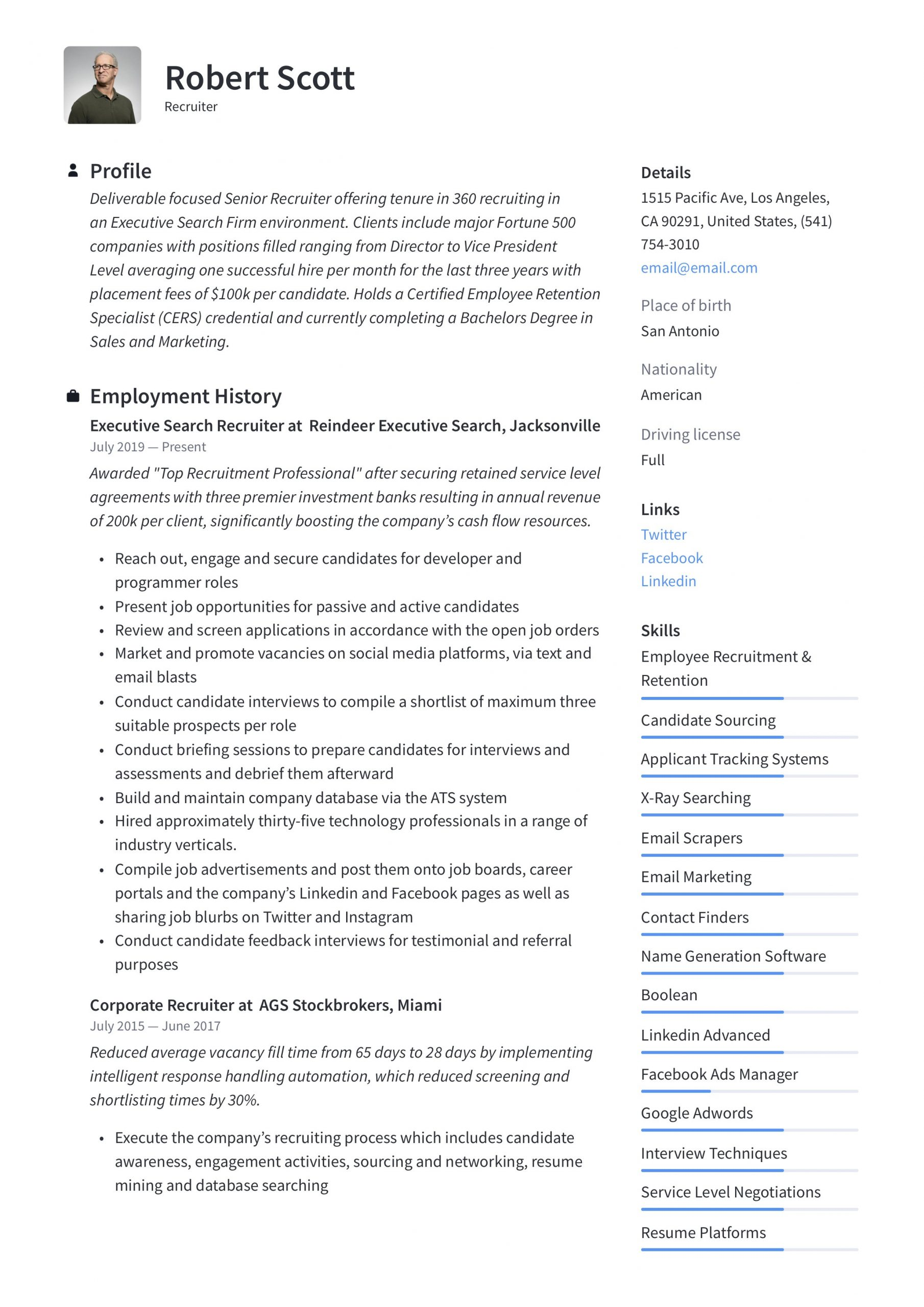 Recruiter Resume & Writing Guide 12 PDF Examples